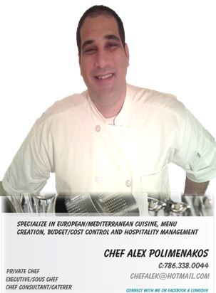 Chef Alex Polimenakos